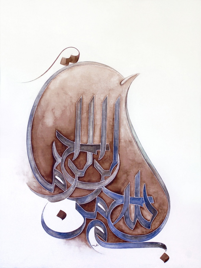 تصاویر نقاشی کعبه مرغ بسم الله